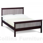 Atlantis Dark wooden bedstead