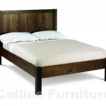 Lyon walnut wooden bedstead