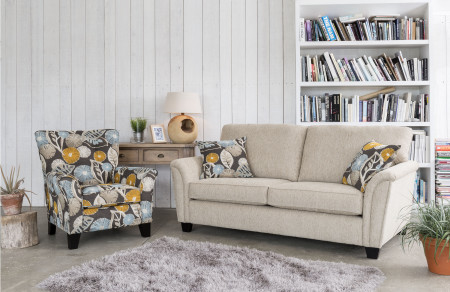 Barcelona 3 Seater, Scatters and Chair
