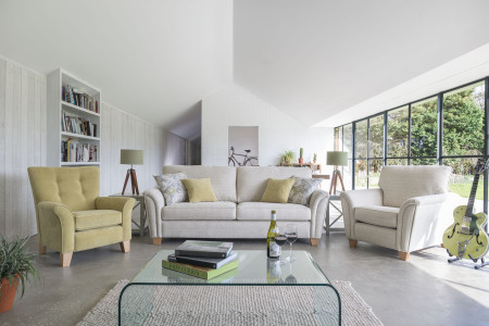 Barcelona Grand sofa, scatters and Chair